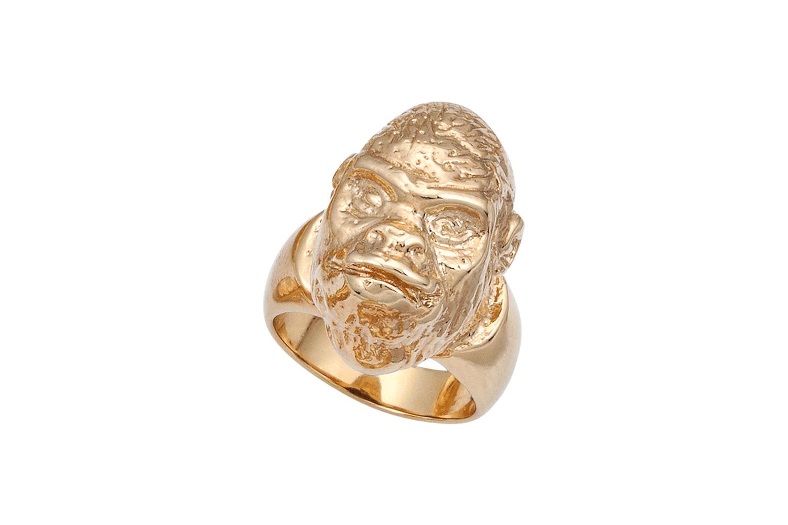Gorilla Head Ring